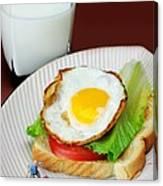 The Breakfast Little People On Food Canvas Print