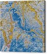 The Breakup Of Pangaea Canvas Print