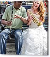 The Bride Plays The Trumpet- Destination Wedding New Orleans Canvas Print