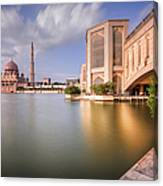 The Bridge And The Mosque Canvas Print