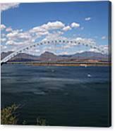The Bridge At Roosevelt Lake Canvas Print