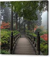 The Bridge In Japanese Garden Canvas Print