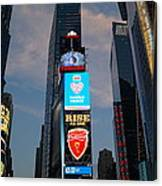 The Bright Lights Of Times Square Canvas Print