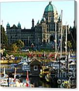 The British Columbia Capitol And Marina Canvas Print