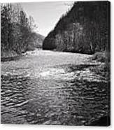 The Broad River 1 Bw Canvas Print