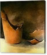The Broken Terracotta Pot Canvas Print
