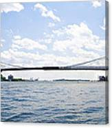 The Brooklyn Bridge And East River Canvas Print