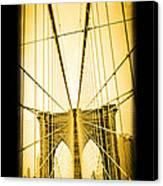 The Brooklyn Bridge New York Canvas Print