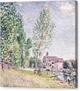 The Builder's Yard At Matrat Moret-sur-loing Canvas Print