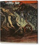 The Burden Of Taxation, Illustration Canvas Print