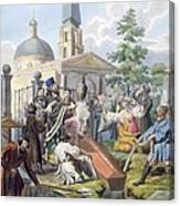 The Burial, 1812-13 Canvas Print
