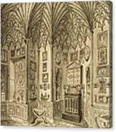 The Cabinet, Engraved By T. Morris Canvas Print