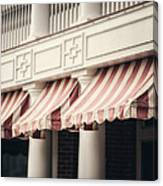 The Cafe Awnings At Chautauqua Institution New York  Canvas Print