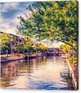 The Canal In Downtown Scottsdale Canvas Print