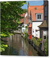 The Canal In The Downtown Of Bruges  Canvas Print