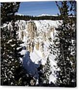 The Canyon In Winter Canvas Print
