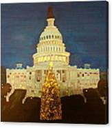 The Capitol At Christmas Canvas Print