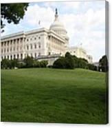 The Capitol Hill View Washington Dc Canvas Print