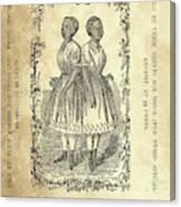 The Carolina Twins, C1869 Canvas Print