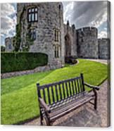 The Castle Bench Canvas Print
