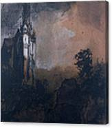 The Castle In The Moonlight  Canvas Print