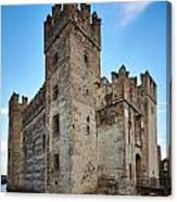 The Castle Of Sirmione. Lago Di Garda Canvas Print