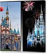 The Castles Of Disney 2 Panel Vertical Canvas Print
