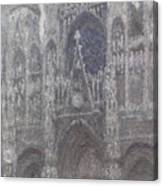 The Cathedral In Rouen Canvas Print