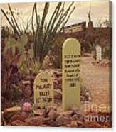 The Cemetery At Boothill Canvas Print