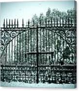 The Cemetery Gates Canvas Print