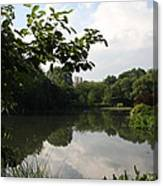 The Central Park Pond Canvas Print