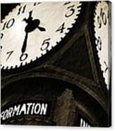 The Central Terminal Clock Canvas Print