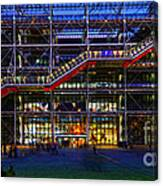 The Centre Pompidou-paris Canvas Print