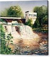 The Chagrin Falls In Summer Canvas Print