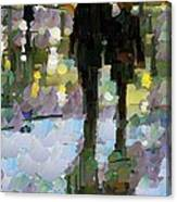The Champs Elyseee After The Rain Canvas Print