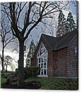 The Chapel At Eagle Point National Cemetery Canvas Print