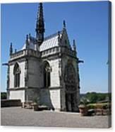 The Chapel Of Saint-hubert Amboise Canvas Print