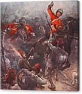 The Charge Of Drury Lowes Cavalry Canvas Print