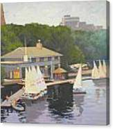The Charles River Sailing Club Canvas Print