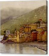 The Charming Town Of Camogli Italy Canvas Print