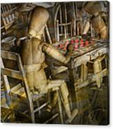 The Checker Game Canvas Print