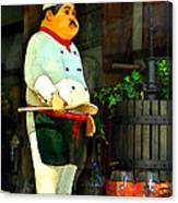 The Chef In The Window Canvas Print