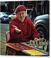 The Chess King Jude Acers Of The French Quarter Canvas Print