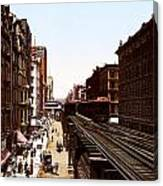 The Chicago El Canvas Print