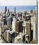 The Chicago Skyline From Sears Tower-001 Canvas Print