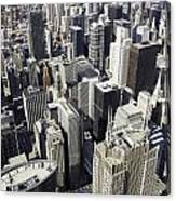 The Chicago Skyline From Sears Tower-004 Canvas Print