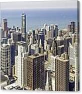 The Chicago Skyline From Sears Tower-009 Canvas Print