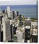 The Chicago Skyline From Sears Tower-011 Canvas Print