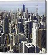 The Chicago Skyline From Sears Tower-013 Canvas Print