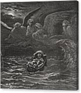 The Child Moses On The Nile Canvas Print